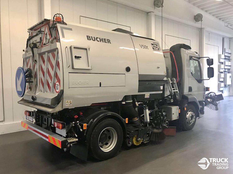 DAF LF 230 FA 16 ton met Johnston V50t opbouw en Beam veegsysteem. foto 2
